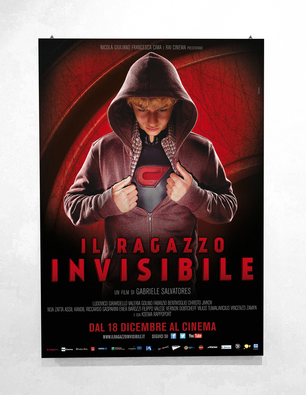 Il Ragazzo Invisibile - Directed by Gabriele Salvatores - Official Poster